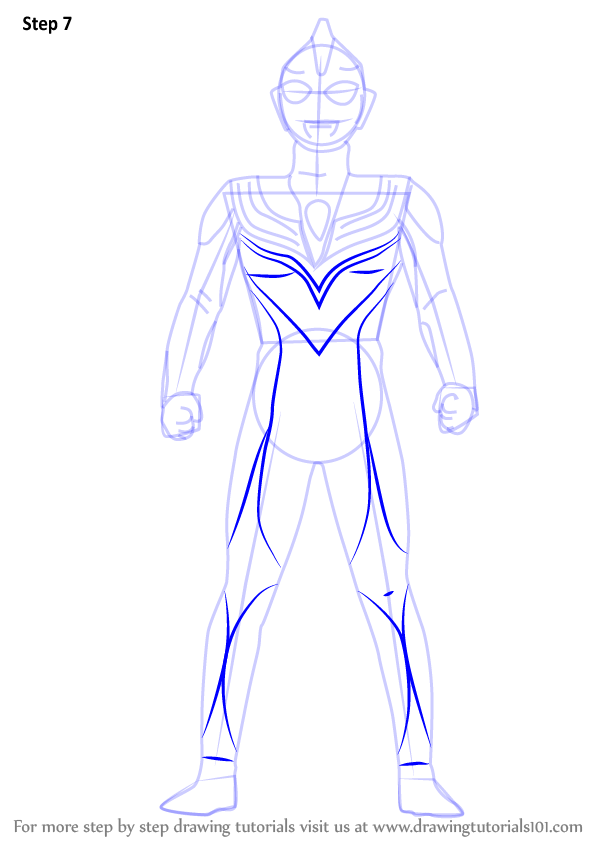 Learn How To Draw Ultraman Tiga Ultraman Step By Step