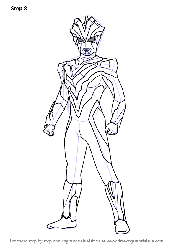 Learn How to Draw Ultraman Victory