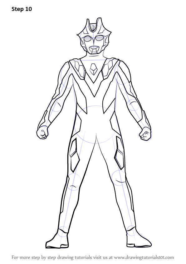 learn how to draw ultraman xenon  ultraman  step by step