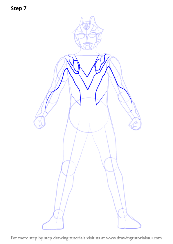 Learn How to Draw Ultraman Xenon (Ultraman) Step by Step ... | 596 x 842 png 56kB