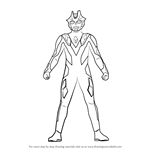 How to Draw Ultraman Xenon