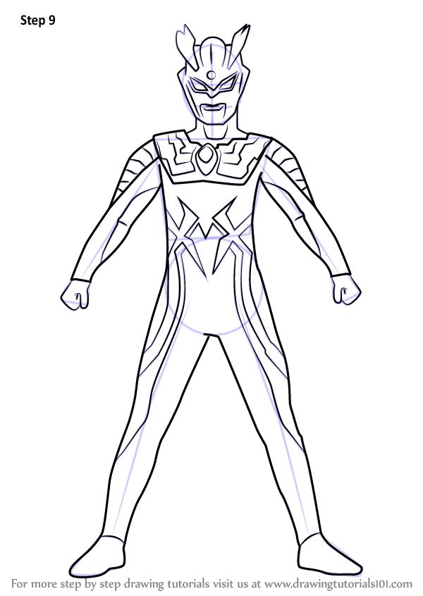 Learn How To Draw Ultraman Zero Ultraman Step By Step