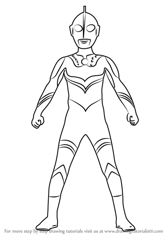 Step By Step How To Draw Ultraman Zoffy