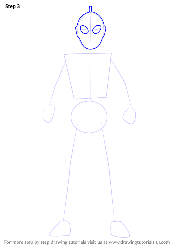Learn How To Draw An Ultraman (Ultraman) Step By Step