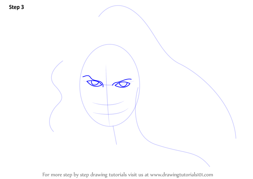 Line Drawing Face Woman : Learn how to draw wonder woman face step by