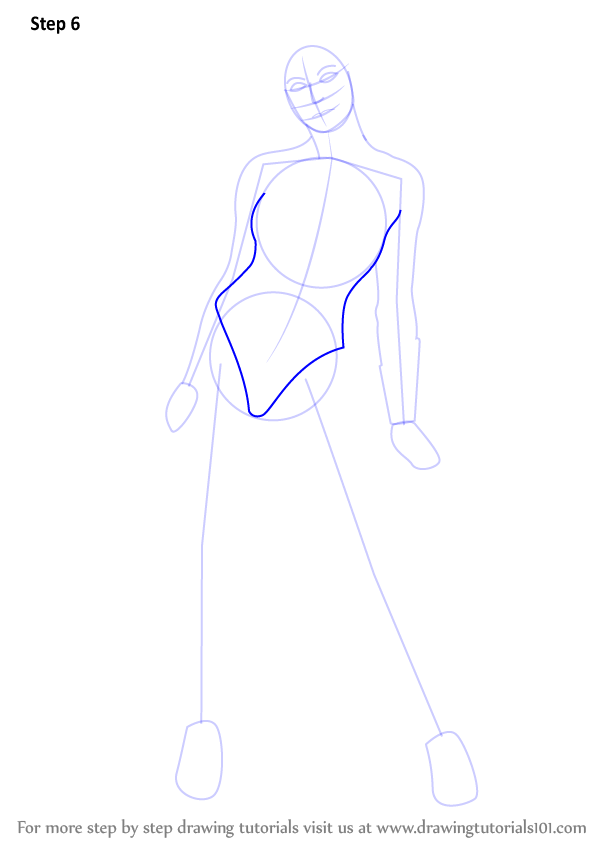 Learn how to draw wonder woman wonder woman step by step for Cartoon body tutorial