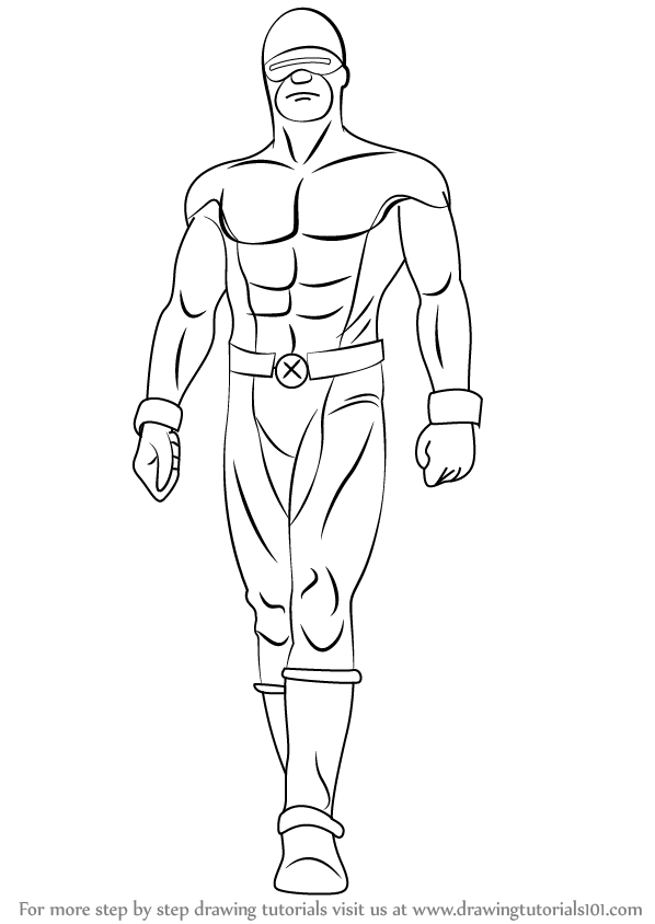 X Men Cyclops Drawings Step by Step How to Dr...