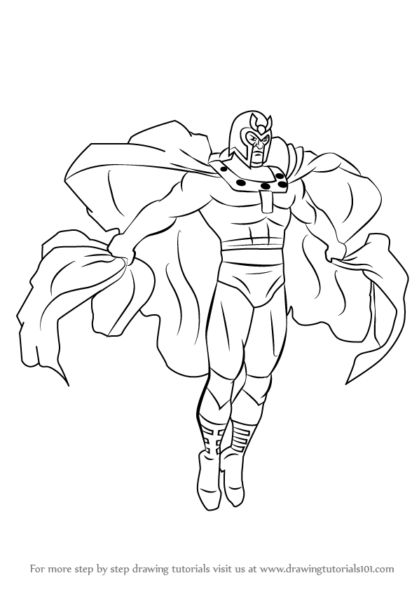 Learn how to draw magneto from x men x men step by step for Magneto coloring pages