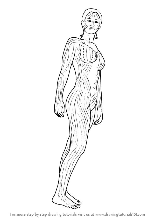 learn how to draw mystique from x