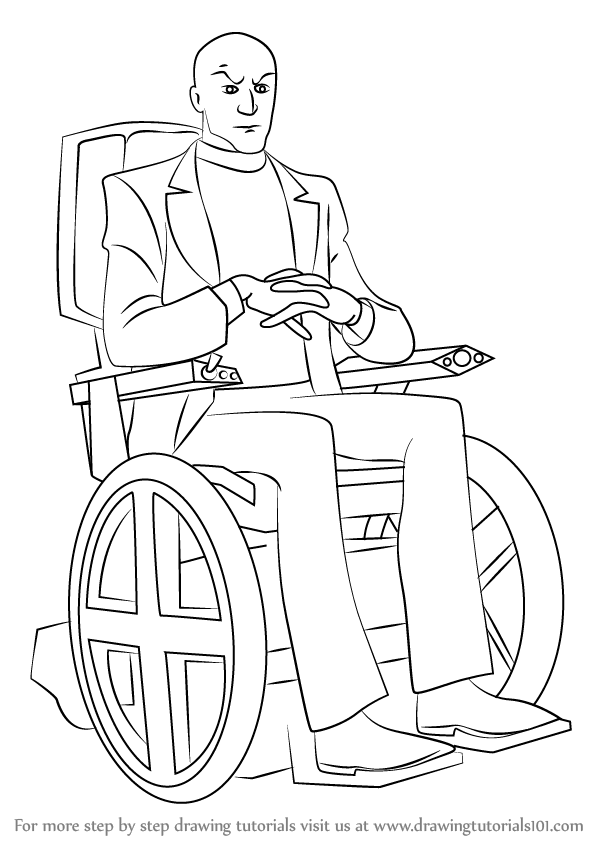 Professor X Wheelchair X Man Coloring Pages