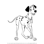 How to Draw Pongo from 101 Dalmations