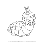 How to Draw Heimlich from A Bug's Life