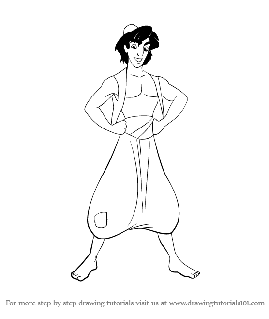 Learn How to Draw Aladdin from Aladdin Cartoon (Aladdin ...