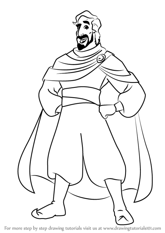 Learn How To Draw Cassim From Aladdin Aladdin Step By