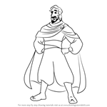How to Draw Cassim from Aladdin
