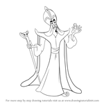 How to Draw Jafar from Aladdin