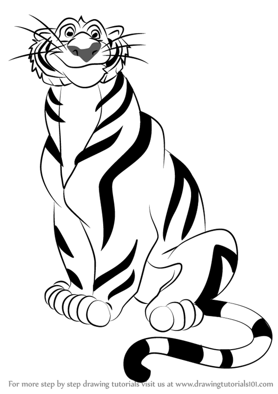 Learn how to draw rajah from aladdin aladdin step by - Dessiner aladin ...