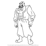 How to Draw Sa'luk from Aladdin