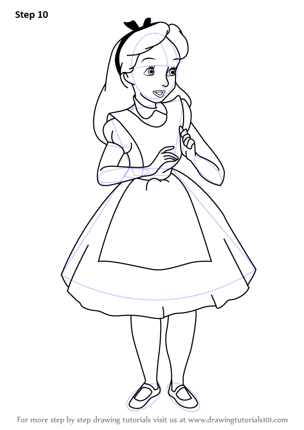 Learn How To Draw Alice From In Wonderland Alice
