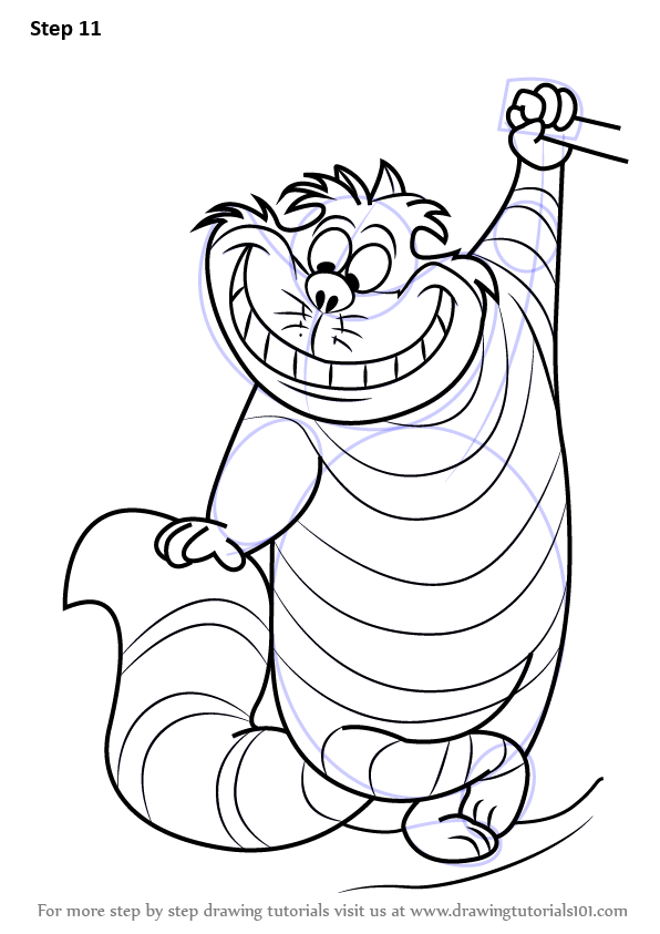 Learn How To Draw Cheshire Cat From Alice In Wonderland