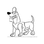 How to Draw Itchy Itchiford from All Dogs Go to Heaven