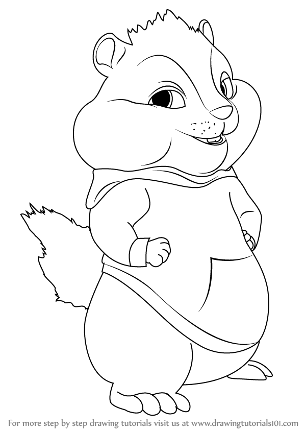 how to draw theodore from alvin and the chipmunks