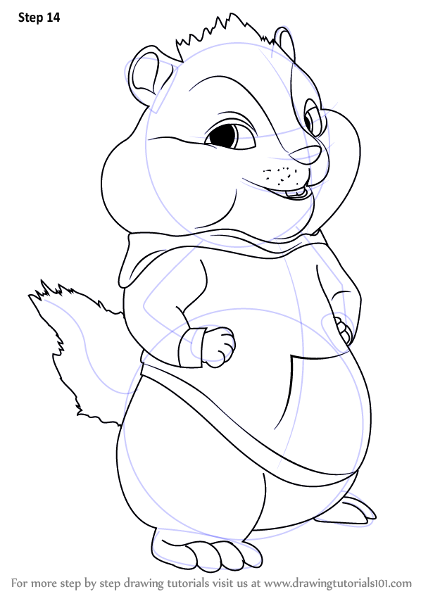 Learn How To Draw Theodore From Alvin And The Chipmunks