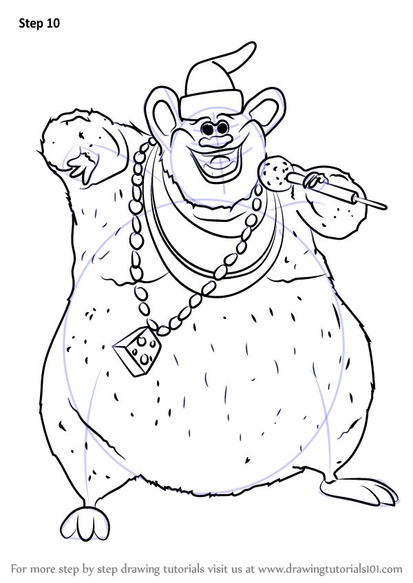 learn how to draw biggie cheese from barnyard  barnyard  step by step   drawing tutorials