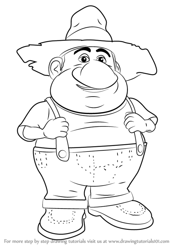 barnyard coloring pages characters - photo#25