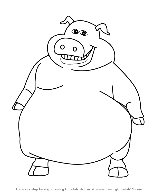 Learn how to draw pig from barnyard barnyard step by for Learn to draw cartoons step by step lessons