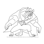 How to Draw Beast from Beauty and the Beast