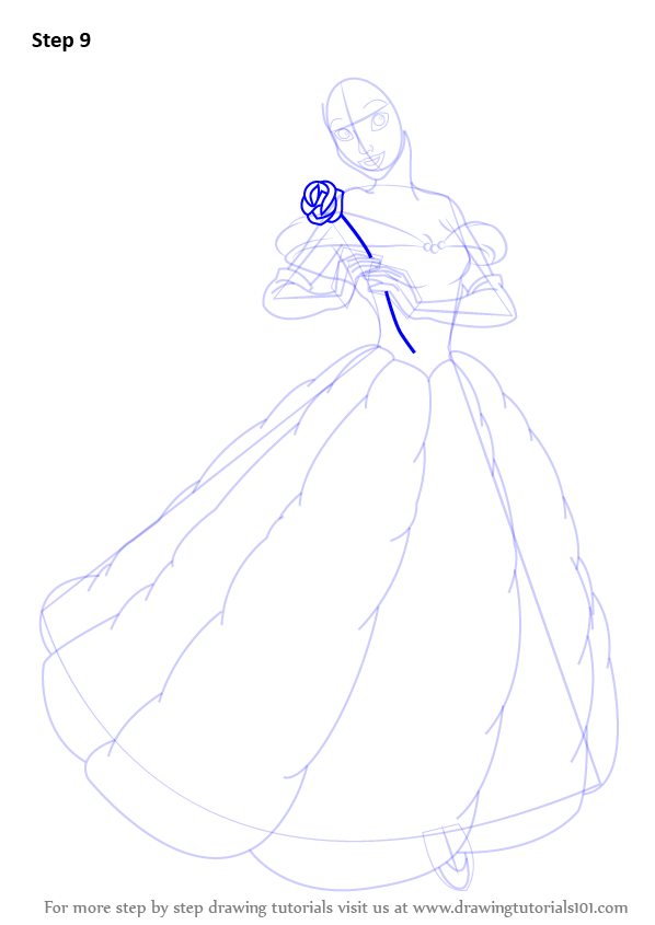 learn how to draw belle from beauty and the beast  beauty and the beast  step by step   drawing