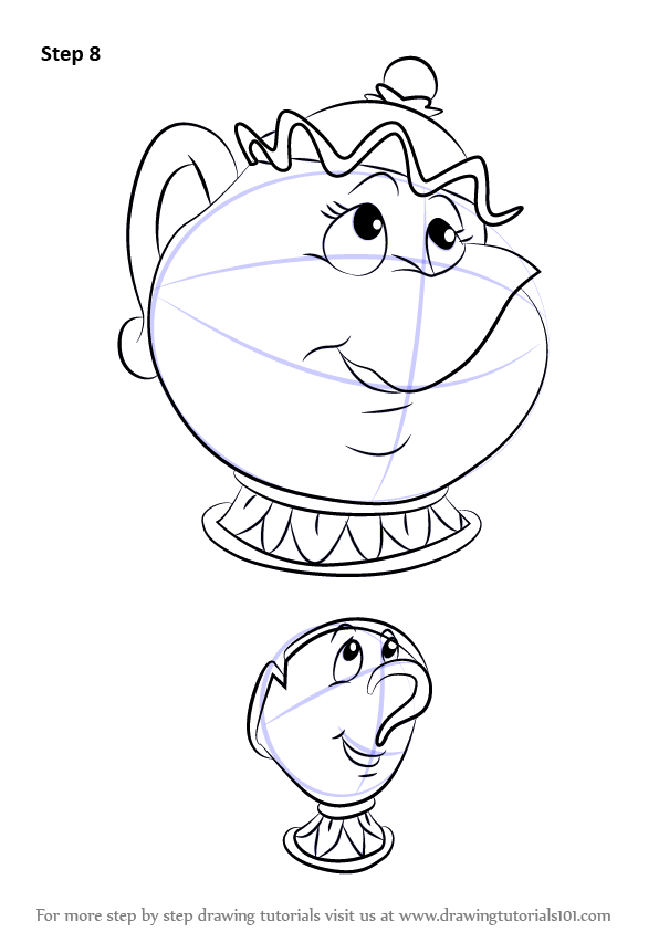 Learn How To Draw Chip Potts From Beauty And The Beast