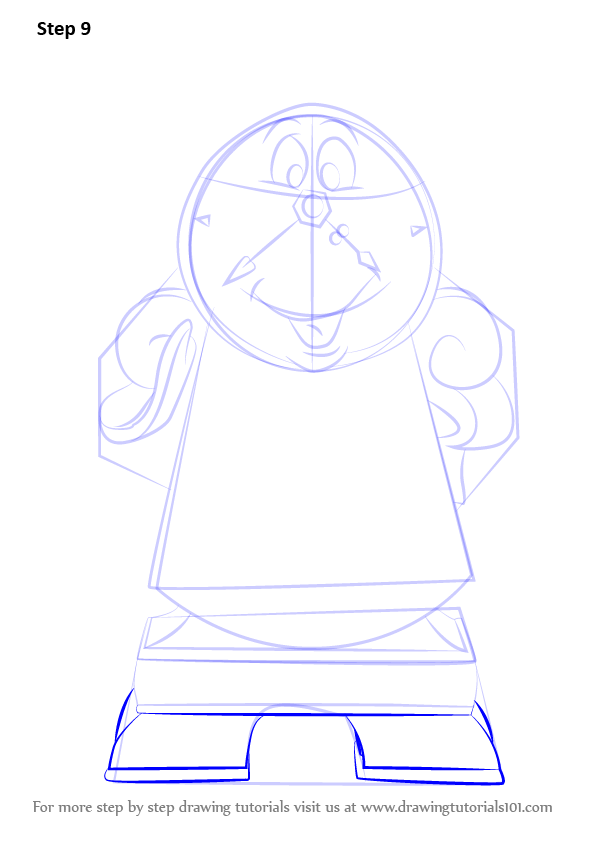 Learn How To Draw Cogsworth From Beauty And The Beast