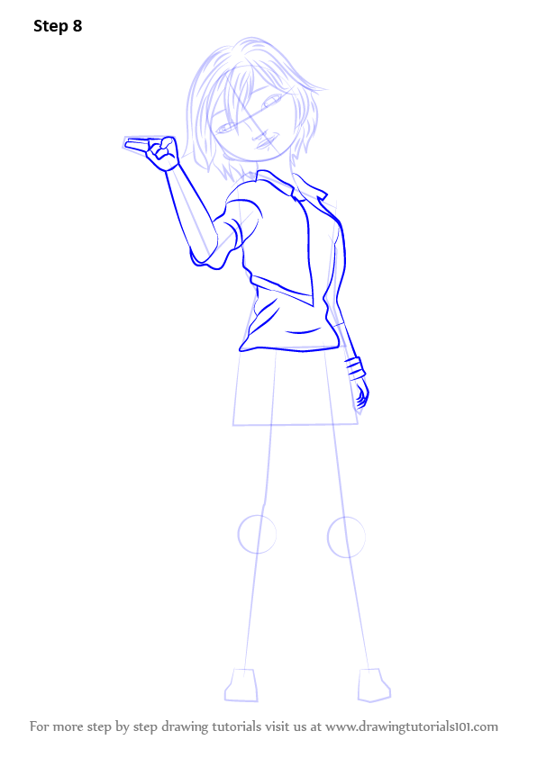 Step By Step How To Draw Go Go Tomago From Big Hero 6