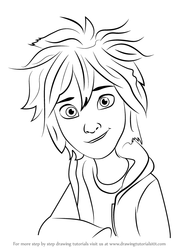 Learn How To Draw Hiro Hamada Face Big Hero 6 Step By
