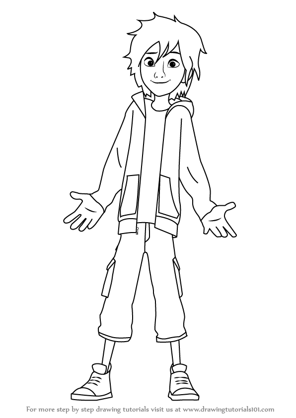 big hero 6 coloring pages hiro - photo #27