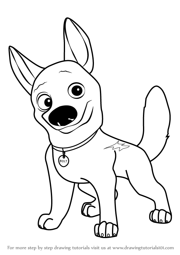 Learn How to Draw Bolt the Dog (Bolt) Step by Step : Drawing