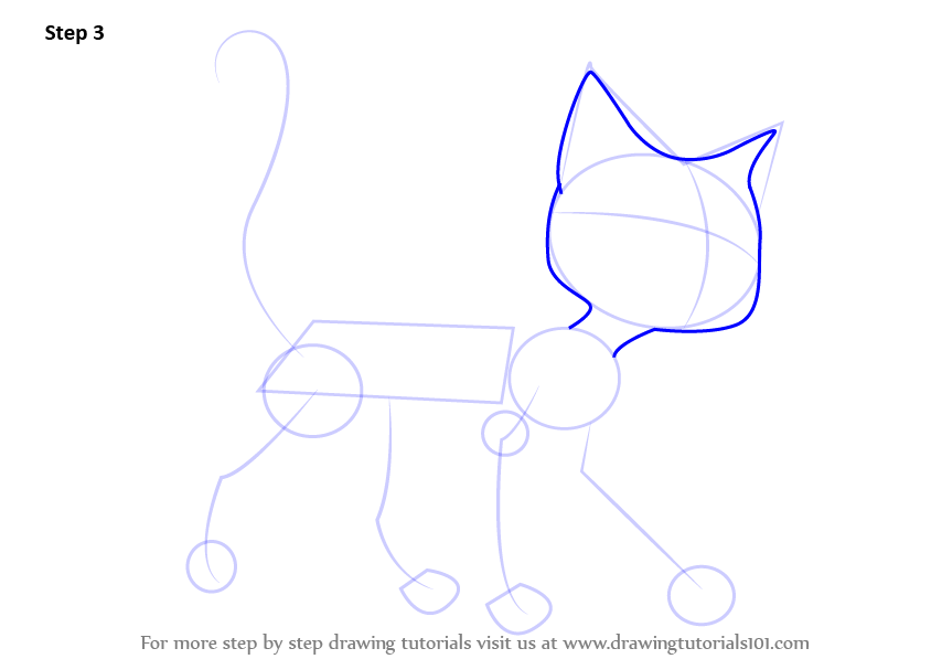 how to draw a tuxedo cat step by step