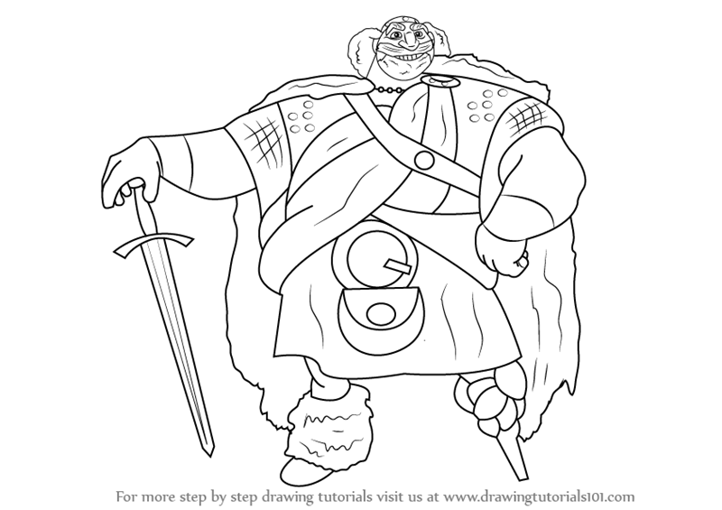 Learn How To Draw King Fergus Elinor From Brave Brave Step By Drawing King