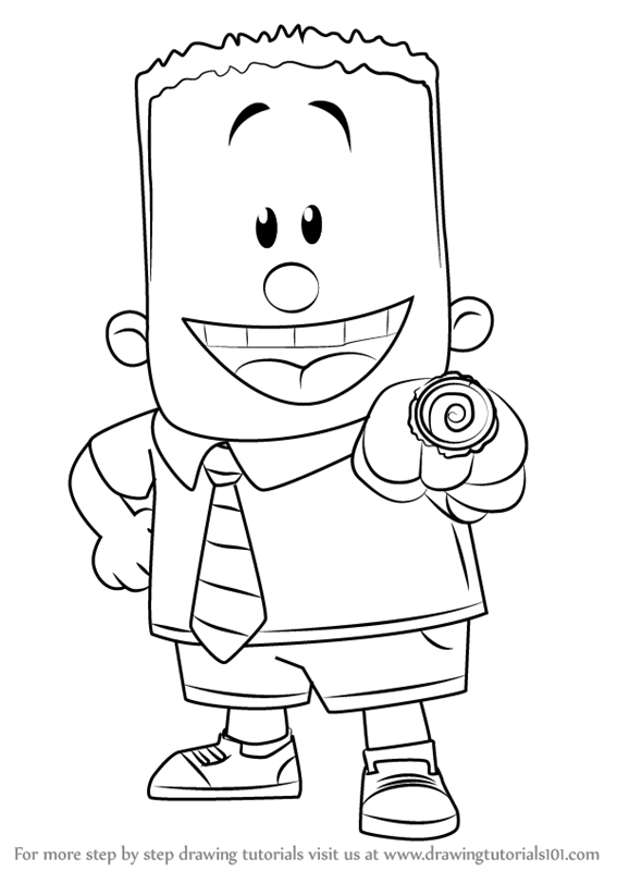 Learn How to Draw George Beard from Captain Underpants Movie
