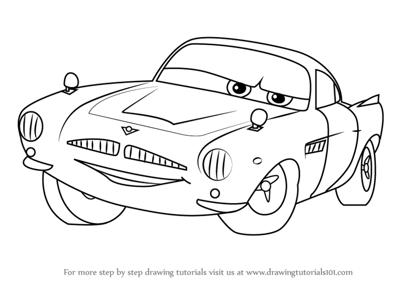 Finn Mcmissile Cars  Coloring Pages