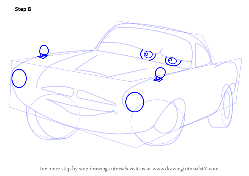How To Draw Finn Mcmissile From Cars