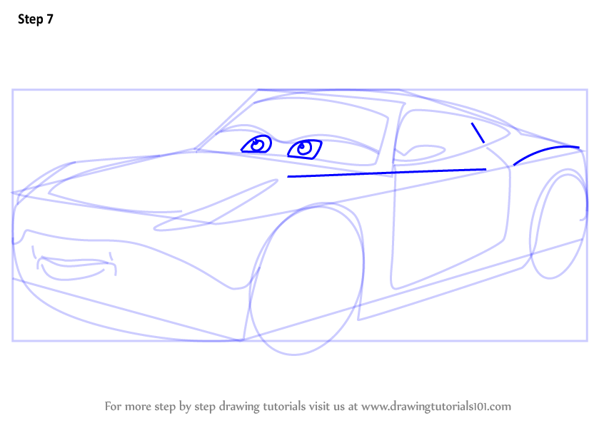 how to draw disney cars