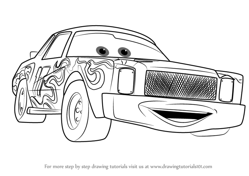 Learn How to Draw Darrell Cartrip from Cars 3 (Cars 3
