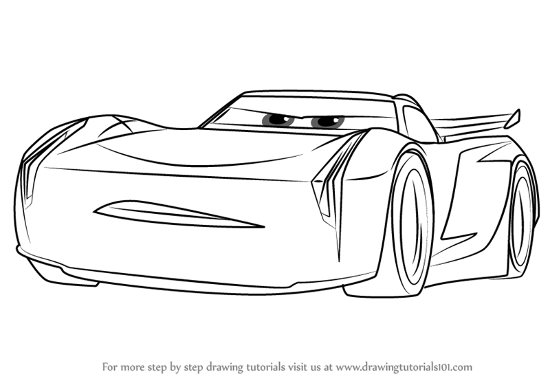 Learn How to Draw Jackson Storm from Cars 3 (Cars 3) Step by Step ...