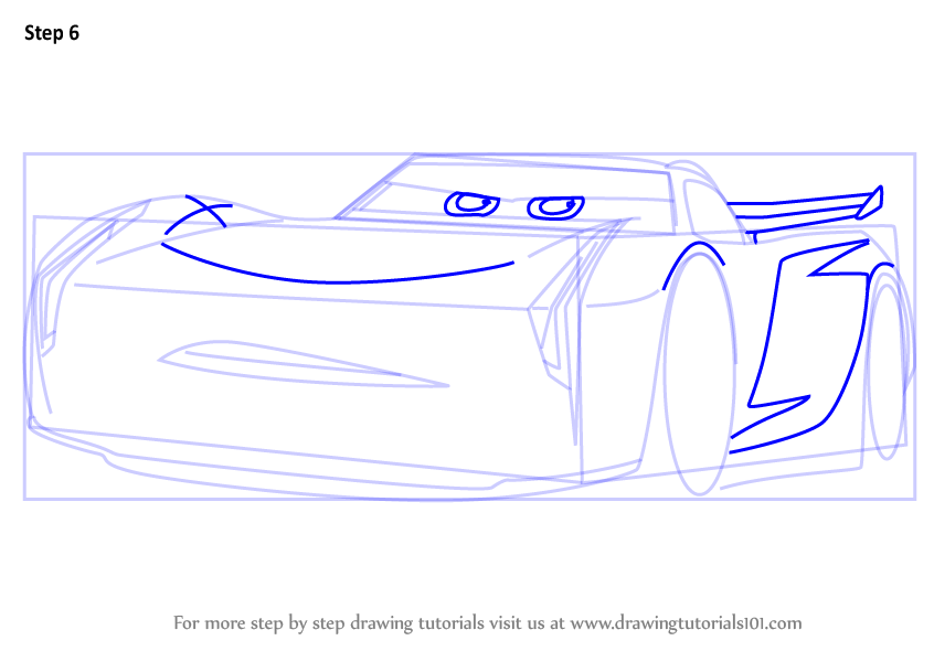 Step By Step How To Draw Jackson Storm From Cars 3