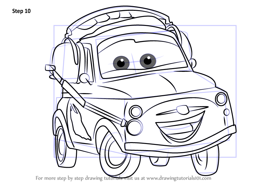 Learn How To Draw Luigi From Cars 3 (Cars 3) Step By Step
