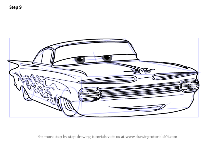Learn How To Draw Ramone From Cars 3 Cars 3 Step By Step