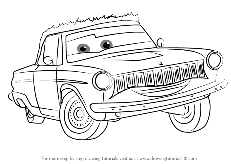 how to draw rusty rust eze from cars 3
